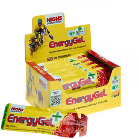 High5 EnergyGel Plus Box 20x40g, Raspberry